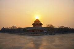 The Forbidden City at sunrise Royalty Free Stock Images