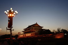 Forbidden city at sunset Royalty Free Stock Images