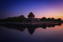 Forbidden City & Sunset Stock Photography