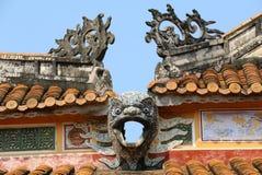 Forbidden City ton, Vietnam askfat Royaltyfri Fotografi