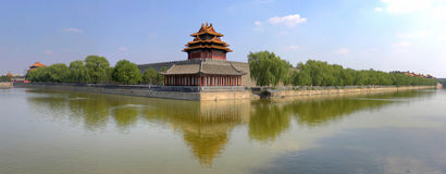 Forbidden city, turret, Beijing, China. This is a turret of forbidden city in Beijing, with a high pixel on it Royalty Free Stock Photography
