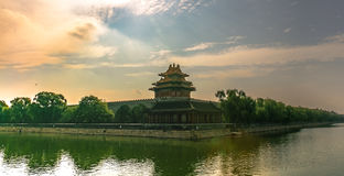 Forbidden City turret morning Stock Photography