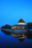 Forbidden city turret royalty free stock photography