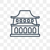 Forbidden city vector icon isolated on transparent background, l stock illustration