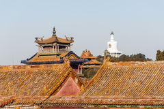 Forbidden City and the white pagoda Stock Photography