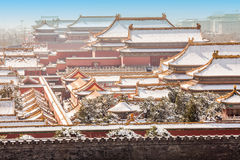 The Forbidden City in winter,Beijing Royalty Free Stock Photography