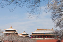 Forbidden City in winter Stock Photo