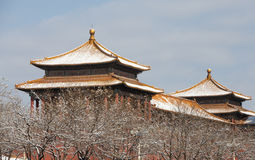Forbidden City in winter Royalty Free Stock Photography
