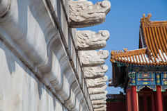 Forbidden City in winter Stock Images