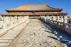Forbidden City Wo front of the hall stairs Diao Royalty Free Stock Photography