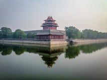 Forbidden City yttre vägg - Peking, Kina Arkivfoto