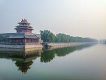 Forbidden City yttre vägg - Peking, Kina Arkivbilder
