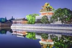 Forbidden City yttre vallgrav i Peking, Kina Royaltyfri Bild