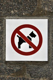 Forbidden dog Royalty Free Stock Photo