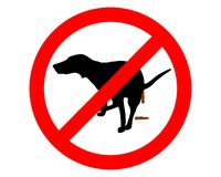 Forbidden for dogs Stock Image