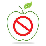 Forbidden fruit sign Royalty Free Stock Photo