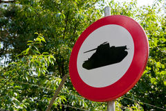 Forbidden for military tanks Stock Images