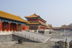 Forbidden palace. Temple museum in Beijing, China Royalty Free Stock Photography