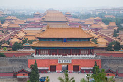 Forbidden Palace covered by smog and air pollution in Beijing,  China Stock Photo