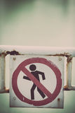 Forbidden passage sign Royalty Free Stock Photo