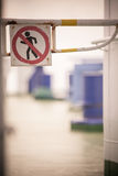 Forbidden passage sign Royalty Free Stock Images
