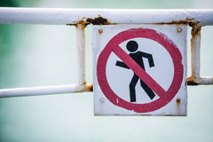 Forbidden passage sign Stock Photography