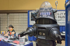 Forbidden Planet robot during the Long Beach Comic Expo. Stock Image