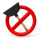 Forbidden Plunger 3d illustration Stock Images