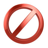 Forbidden sign. Isolated on white Stock Photography