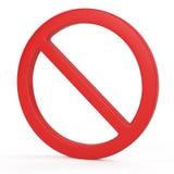 Forbidden sign concept Stock Photos