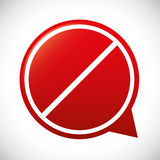 Forbidden sign icon image Stock Photos