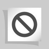 Forbidden sign isolated. Stock  icon illustration Stock Photo