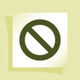 Forbidden sign isolated. Stock  icon illustration Stock Images
