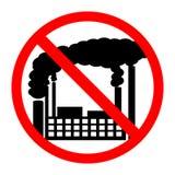 Forbidden sign no air pollution Royalty Free Stock Photos