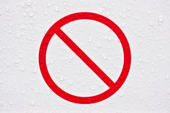 Forbidden sign Royalty Free Stock Images