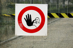 Forbidden sign Royalty Free Stock Photography