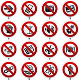 Forbidden signals. Vector illustration of forbidden signals set Royalty Free Stock Image