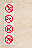 Forbidden signs Stock Photography