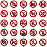 Forbidden signs Royalty Free Stock Image
