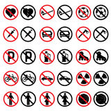 Forbidden Signs Stock Photos