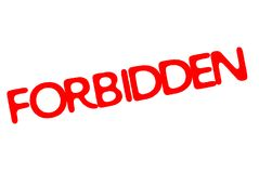 Forbidden stamp typographic stamp. Forbidden stamp. Typographic sign, stamp or logo Royalty Free Stock Photo