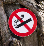 It is forbidden to smoke a sign Stock Image