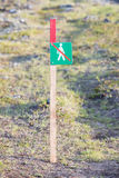 Forbidden to walk over here - Iceland Stock Photography