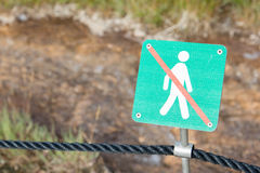 Forbidden to walk over here - Iceland Stock Images