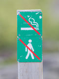 Forbidden to walk and smoke over here - Iceland Royalty Free Stock Photos