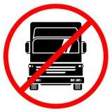 Forbidden truck Stock Photography
