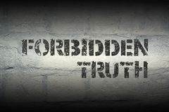 Forbidden truth GR royalty free stock photography