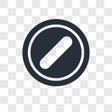 Forbidden vector icon on transparent background, Forbidden logo design stock illustration