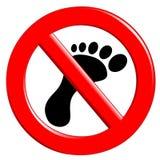 Forbidden Walking Stock Images