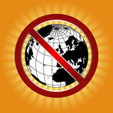 Forbidden world. In yellow color retro background eps Stock Images